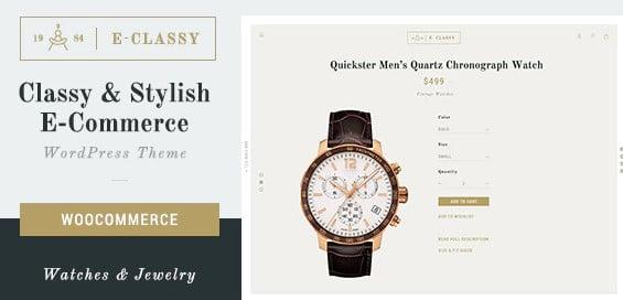 eClassy - 34+ Top Online Watch Shop WordPress Themes [year]