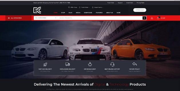 eCode - 28+ Automotive Accessories WordPress Themes [year]