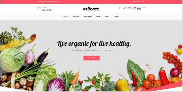 ezBoozt - 39+ Best Fruit & Vegetable WordPress Themes [year]