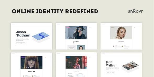 unRovr - 34+ Portfolio WordPress Themes For Resume [year]