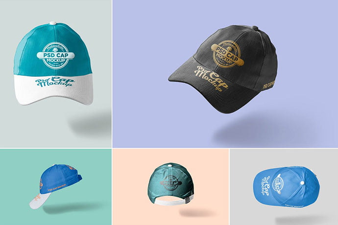5-Baseball-Cap-Mockups - 38+ Nice PSD Mockups for Your Amazing Projects [year]