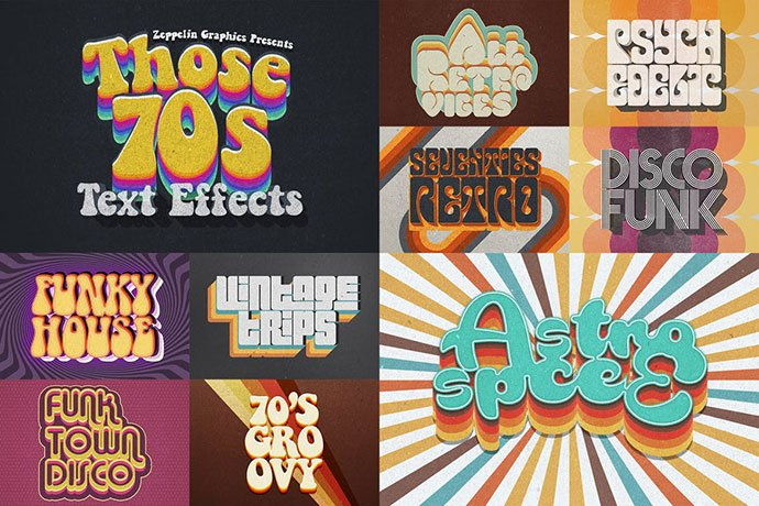 70s-Retro-Text-Effects - 33+ Nice Retro Vintage Photoshop Text Effects [year]