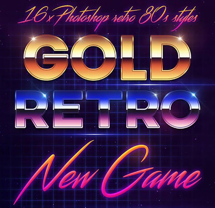 80s-Style-text-effect - 33+ Nice Retro Vintage Photoshop Text Effects [year]