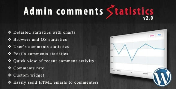 Admin-comments-statistics - 35+ Top WordPress Comment Plugins [year]