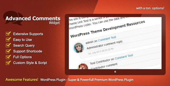 Advanced-Comments-Widget - 35+ Top WordPress Comment Plugins [year]