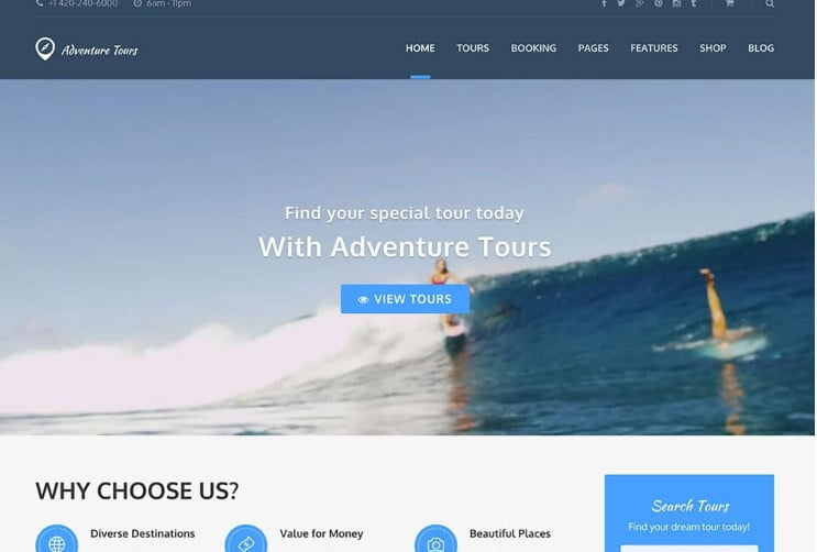 Adventure-Tours - 37+ Awesome WordPress Booking Themes [year]