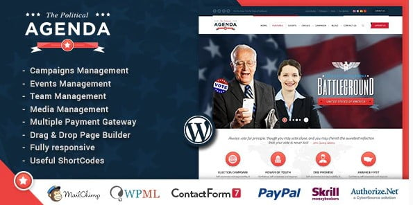 Agenda - 35+ Awesome WordPress Government Themes [year]