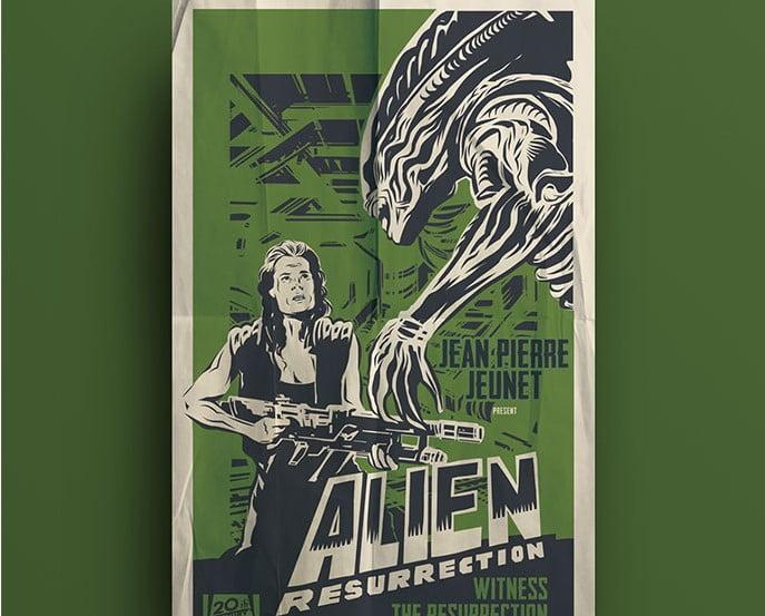 Alien's-Posters - 39+ Best BEST Free Retro & Vintage Movie Design [year]