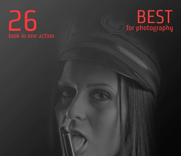 Amazing - 34+ Awesome Black & White Photoshop Actions [year]