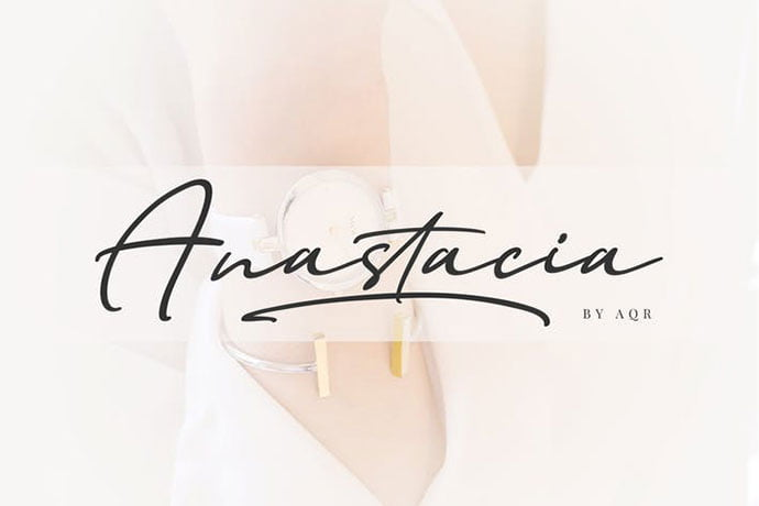 Anastacia - 38+ Attractive Handwriting & Signature Fonts [year]