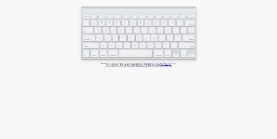 Apple-Keyboard-in-pure-CSS - 38+ Nice BEST Free CSS Device Mockups [year]