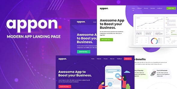 Appon - 33+ Responsive WordPress SAAS Themes [year]