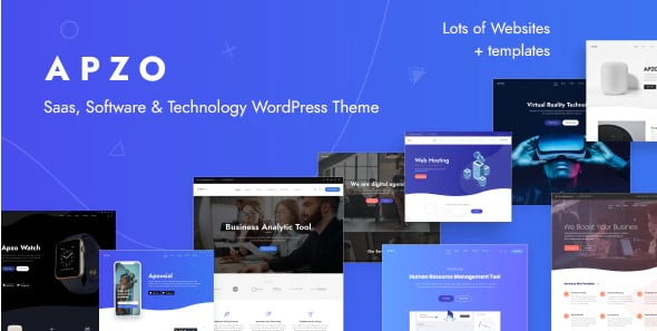 Apzo-1 - 33+ Responsive WordPress SAAS Themes [year]