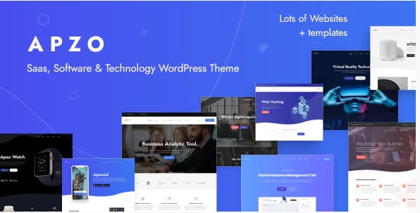 Apzo - 33+ Responsive WordPress SAAS Themes [year]