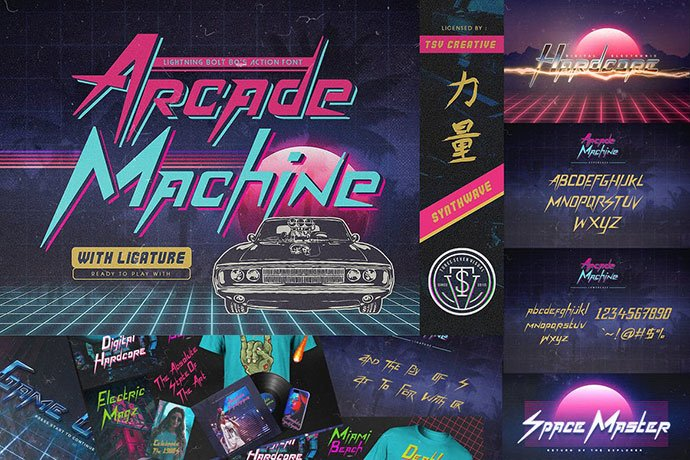 Arcade-Machine - 53+ Nice T-shirt Design Hand Lettering Fonts [year]