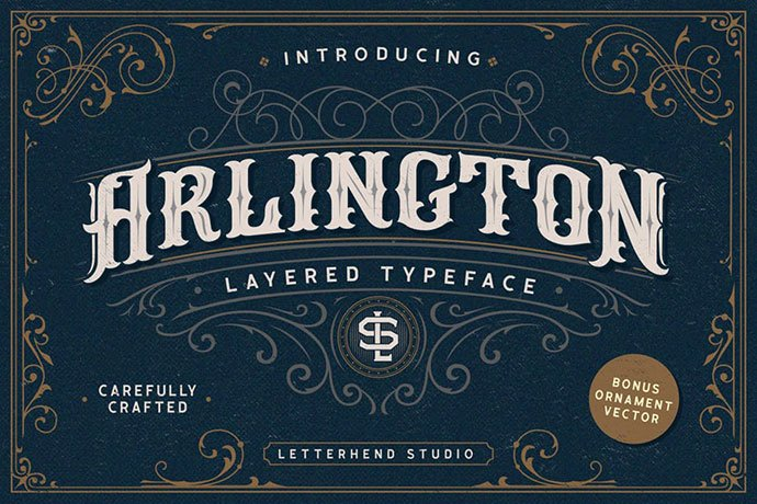 Arlington - 38+ Beautiful Fonts For Graphic Design [year]