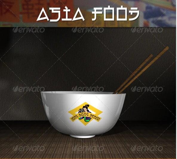 Asia-Food-Mock - 53+ Impressive BEST Free Food & Drink Designs [year]