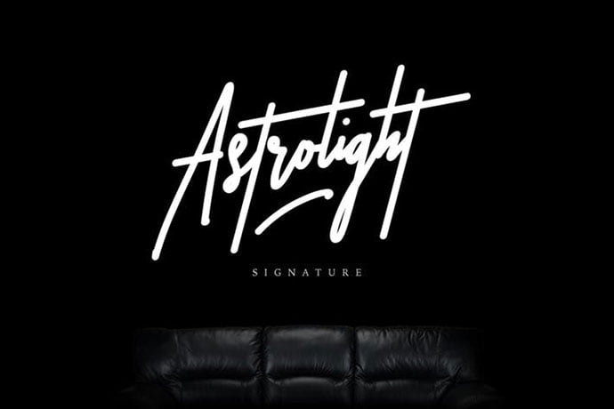 Astrolight - 38+ Attractive Handwriting & Signature Fonts [year]