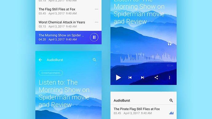 Audioburst - 63+ BEST Free PodCast Web & Mobile App UI Design IDEA [year]
