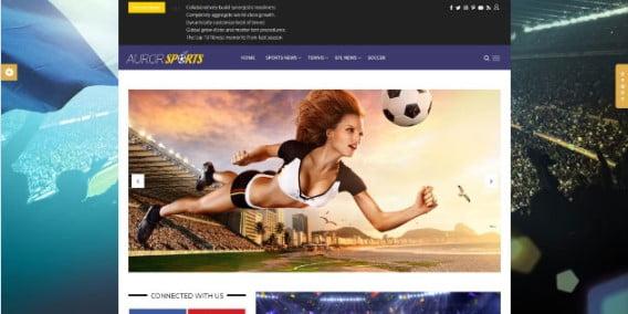Auror - 42+ Amazing Sport Magazine WordPress Themes [year]