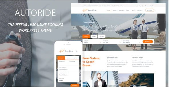 AutoRide - 37+ Awesome WordPress Booking Themes [year]