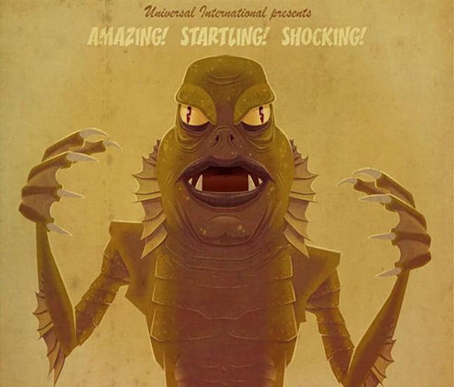 B-Movie-Monsters - 39+ Best BEST Free Retro & Vintage Movie Design [year]