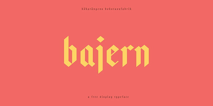Bajern - 28+ Excellent 100% Free Blackletter Fonts [year]