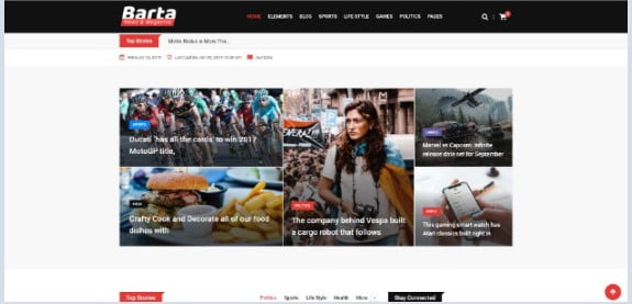 Barta - 42+ Amazing Sport Magazine WordPress Themes [year]