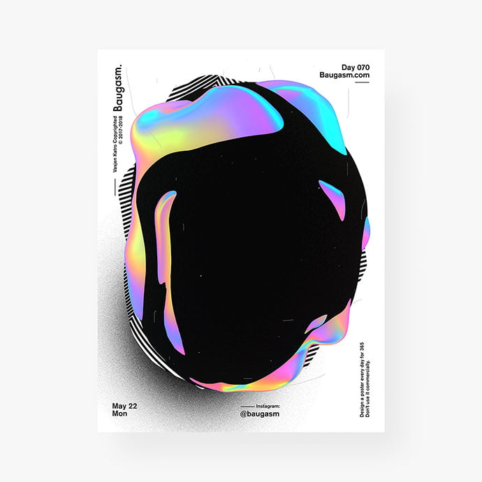 Baugasm - 38+ Awesome BEST Free Organic Shapes Poster Design [year]