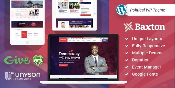 Baxton - 35+ Awesome WordPress Government Themes [year]