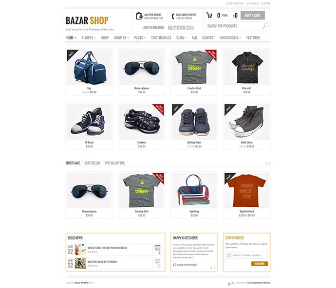 Bazar-Shop - 33+ Lovely Outdoor Gear WordPress Themes [year]