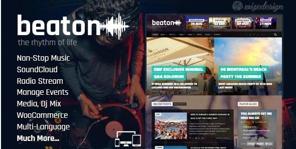 Beaton - 36+ Amazing WordPress Radio Station Themes [year]