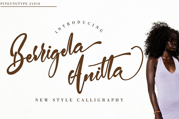 Berrigela-Anitta - 53+ Nice T-shirt Design Hand Lettering Fonts [year]
