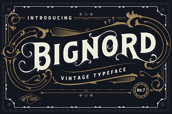 Bignord - 38+ Beautiful Fonts For Graphic Design [year]