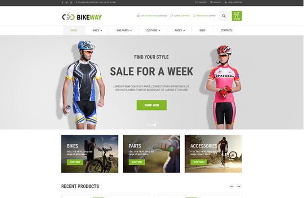 Bikeway - 33+ Lovely Outdoor Gear WordPress Themes [year]