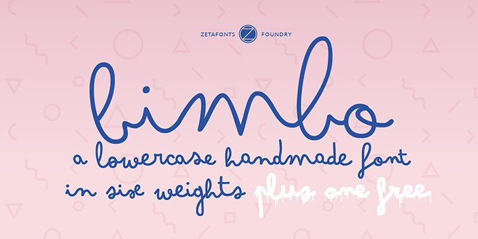 Bimbo - 53+ Best Free Calligraphy & Hand Lettering Fonts [year]