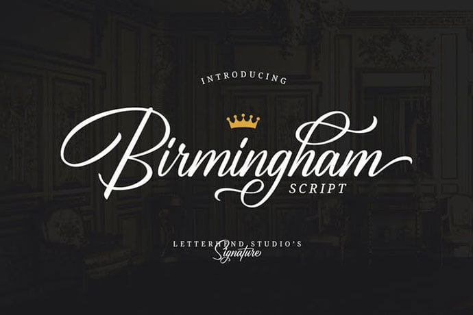 Birmingham - 38+ Attractive Handwriting & Signature Fonts [year]