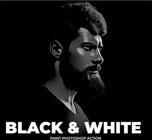 Black - 34+ Awesome Black & White Photoshop Actions [year]