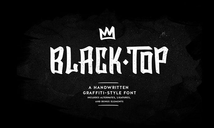 BlackTop - 38+ Lovely BEST Free Graffiti Web Fonts [year]
