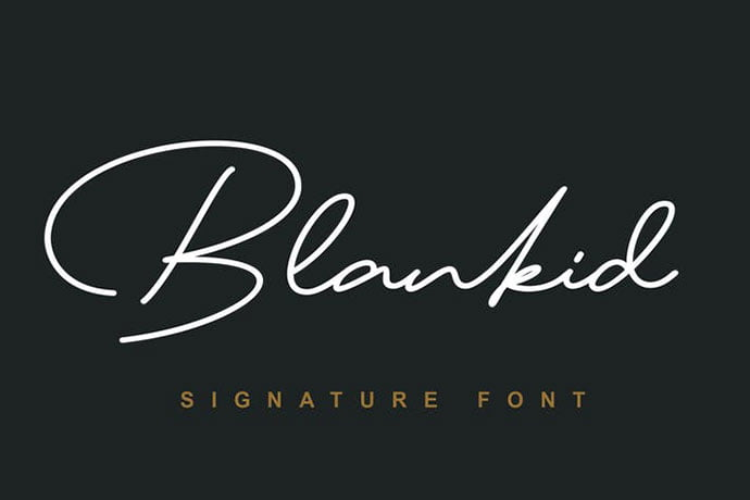 Blank-id-Font - 38+ Attractive Handwriting & Signature Fonts [year]