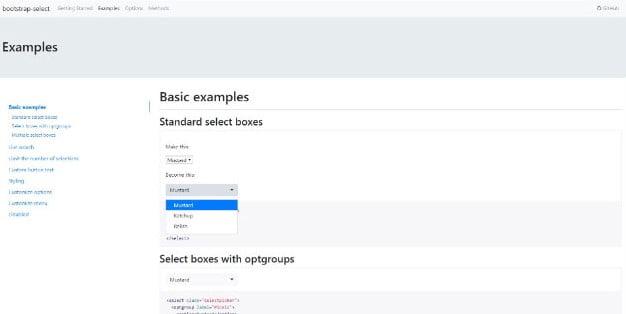 Bootstrap-Select - 38+ Amazing 100% Free Bootstrap Web UI KIT [year]