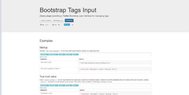 Bootstrap-Tags-Input - 38+ Amazing 100% Free Bootstrap Web UI KIT [year]