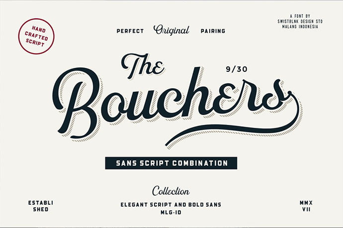Bouchers - 53+ Nice T-shirt Design Hand Lettering Fonts [year]