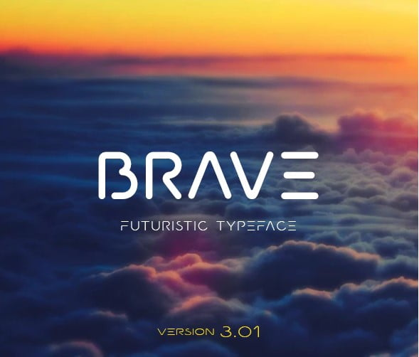 Brave - 38+ Beautiful Fonts For Graphic Design [year]