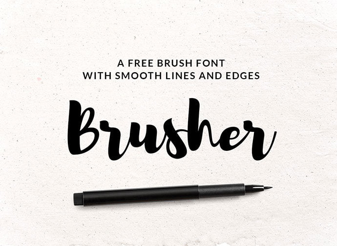 Brusher - 53+ Best Free Calligraphy & Hand Lettering Fonts [year]