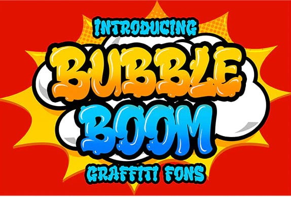Bubble-Boom - 38+ Lovely BEST Free Graffiti Web Fonts [year]