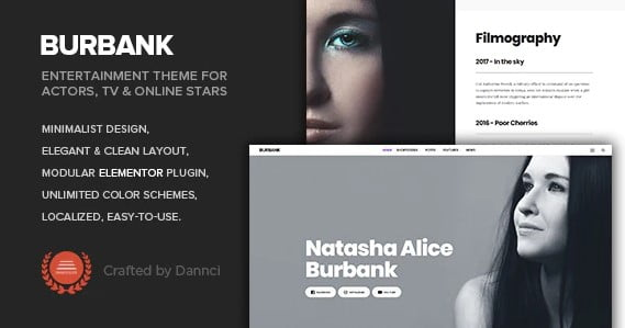 Burbank - 37+ Awesome Actors WordPress Themes [year]