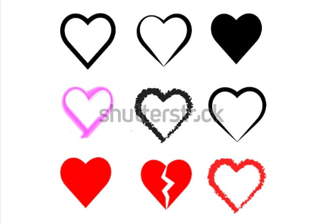 By-Zunli - 36+ Lovely Free Heart Vector Images From Shutterstock [year]
