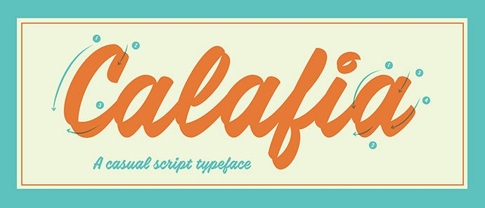Calafia - 53+ Best Free Calligraphy & Hand Lettering Fonts [year]