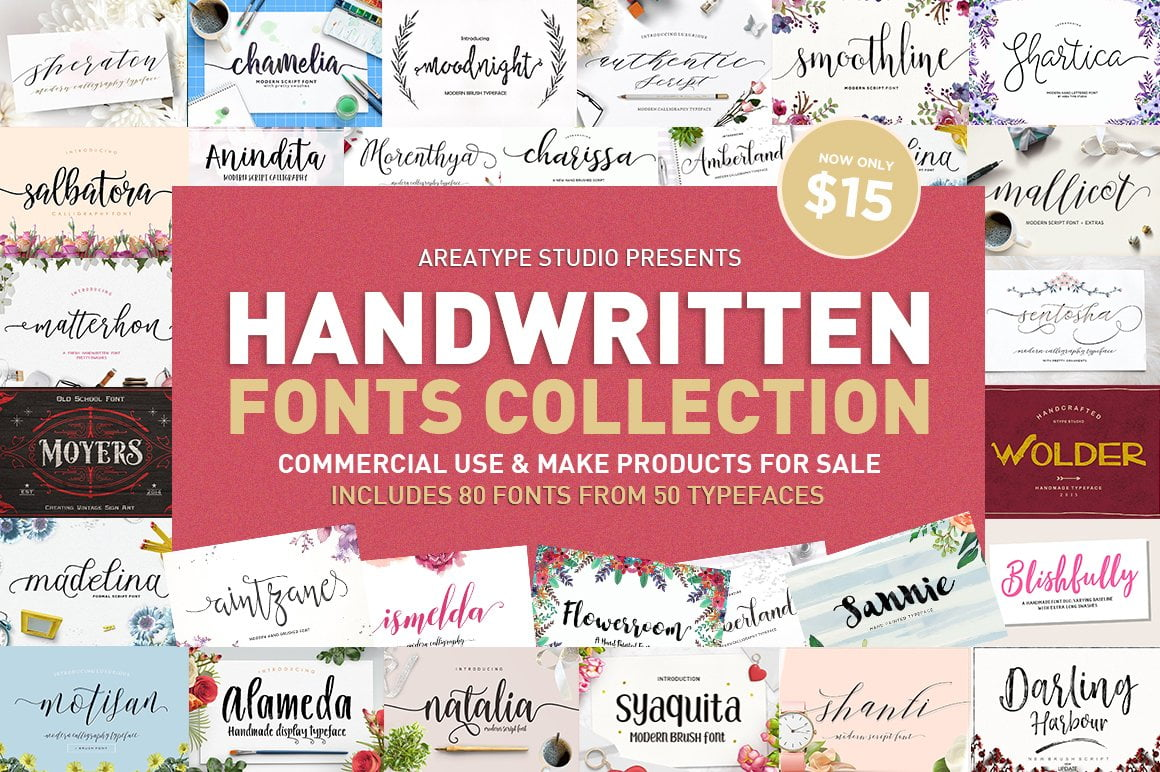 Calligraphy-Hand-Lettering-Fonts - 53+ Best Free Calligraphy & Hand Lettering Fonts [year]